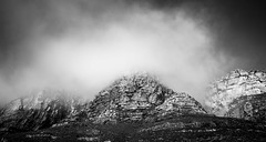 Skulls Cliff (MacMyc) Tags: afrika africa southafrica za capetown thetwelvesapostles pipetrack hiking exterior outdoors wild wildness cliff falaise rock landscape bw blackandwhite noiretblanc monochrome drame drama contrast cloudy mist fogscape calm lightroom canon700d raw daytime