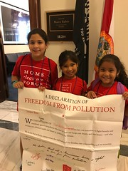 Tiny Activists outside of Senator Rubio's office