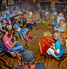 Music Group, Carson City, Nevada (day_williams) Tags: music group musicians coffeeshop carsoncity nevada dulcimer fiddle violin drum