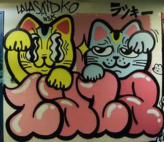 Lalasaïdko (HBA_JIJO) Tags: streetart urban graffiti paris animal art france hbajijo wall mur painting letters chat aerosol peinture cat lettrage lettres lettring spray bombing lalasaïdko flop rehab2