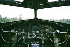 B-17 Bomber Cockpit (bac1967) Tags: wings tour bremerton bremertonwa bremertonairport olympus xa2 olympusxa2 135film 35mm 35mmfilm airplane aircraft bomber wwii wwiibomber airforce military fujifilm xtra 400 fujifilmxtra400 colorfilm b17 b17bomber cockpit