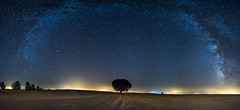 Panorama_VL(w) (photodkx) Tags: milkyway tree isolated symmetry night arc