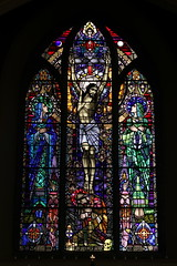Crucifixion by Harry Clarke (mcginley2012) Tags: harryclarke crucifixion stainedglass window churchart art oughterard cogalway ireland colour light symbols