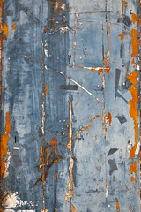 Ignorabimus (Gerard Hermand) Tags: 1706108785 gerardhermand france angoulême charente canon eos5dmarkii formatportrait porte door bois wood peinture paint bleu blue orange abstrait abstract abstraction