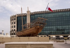 Dhow: outside the Dubai Museum. (PJD-DigiPic) Tags: dubai unitedarabemirates ship dhow building museum pjddigipic lumixcamera panasoniclumixgh3