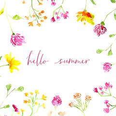 42520875_m (worldclassclubs) Tags: summer hello spring watercolor background design illustration season card nature banner cute vintage hand sale art decoration flower floral drawn decor concept holiday beautiful wedding invitation white flowers romantic plant leaf drawing abstract garden template paint wild yellow clover stem twig fresh dandelion blossom modern layout poster