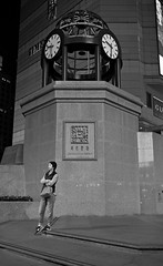if i can turn back time... (hugo poon - one day in my life) Tags: xt2 23mmf2 hongkong causewaybay russellstreet mathesonstreet timessquare citynight solitude waiting time clock architecture shopping