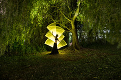 Tube light-painting under the weeping willow tree (ericpare) Tags: lightpainting nyc kimhenry centralpark