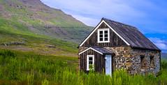 Lonly House (Gunnar Þór) Tags: iceland east icelandic easticeland ísland austfirðir reyðarfjörður travel traveling landscape green color colorful house cabin art picture pentax pentaxk1 favorite picoftheday day sky blue