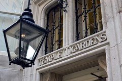 2017-06-11: Temple Gardens (psyxjaw) Tags: london londonist temple gardens stone building lamp flame entrance