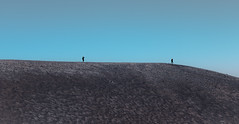 The Walking Men (on Etna) (Jonathan Simonsen) Tags: italy sicily mountetna mount mountain etna mountains mountainside two walking line composition landscape volcano moon moonlandscape dark barren barrenlandscape cold fave canon eos dslr 750d 250mm