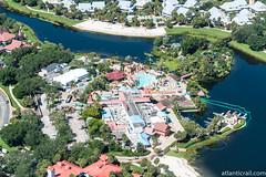 Caribbean Beach Resort (CChard) Tags: aerial disney disneysprings disneyworld hollywoodstudios resort starwars toystory typhoonlagoon helicopter epcot espn sports stadium theme park