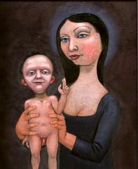 woman with infant (D------------[))))) Tags: oiloncanvas painting motherandchild dmitrymyaskovsky glazing