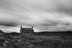a hundred years of solitude (Derek Robison) Tags: lewis harris house abandoned ruins blackandwhite longexposure bw callanish
