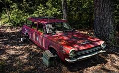 1964 Dodge Dart (Paul's Captures (paul-mashburn.artistwebsites.com)) Tags: redcar 1964dodgedart redchevy stuckintheground hdr