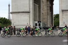 Team Cannondale (Fedpics) Tags: paris france arcdetriomphe uran rigobertouran teamcannondale cannondale cycling eiffeltower latoureiffel