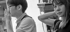 Never mind about him!!! (Baz 120) Tags: candid candidstreet candidportrait city candidface candidphotography contrast street streetphoto streetcandid streetphotography streetphotograph streetportrait rome roma romepeople romestreets romecandid europe monochrome monotone mono blackandwhite bw noiretblanc urban voigtlandercolorskopar21mmf40 voightlander leicam8 leica life primelens portrait people unposed italy italia girl grittystreetphotography faces decisivemoment strangers