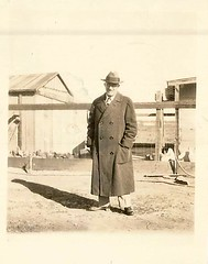 """Dr. Gales, Mar. 1928."" (912greens) Tags: men doctors coats backyards 1920s folksidontknow"