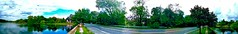South Country Road To Serenity - IMRAN™ (ImranAnwar) Tags: clouds eastpatchogue green homes imran imrananwar iphone lake longisland neighborhood newyork panorama road roadway robinsonpond southcountryroad travel trees waterfront
