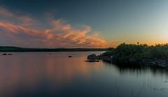 Tranquillité (martinmenard757) Tags: martin menard baiejames quebec jamesbay sunset coucher soleil couleur canada wild sauvage