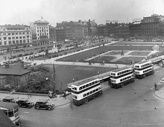 Manchester, Parker St June 1937. (island traction) Tags: manchester corporation transport tramways crossley leyland td2 td3 mancunian diesel oilers standard metro cammell accles pollock