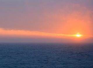 AFRICIAN SUNRISE ON THE ATLANTIC OCEAN,   LUDERITZ, NAMIBIA, AFRICA.