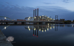 Night Shooting (Rrea Brown (Photography)) Tags: providence rhodeisland nightshooting longexposure city bridge bay rreabrownphotography