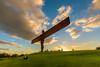 Angel of the North (NickCarterPhotography) Tags: gateshead angel antony gormley sculpture sunset