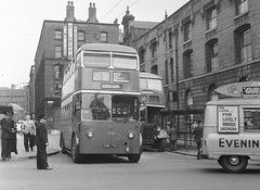 Manchester BUT 1330. (island traction) Tags: manchester corporation transport mctd trolleybus bus but burlingham hyde rd stevenson square crossley dd423 dd42 2900