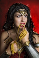 She Toys With Emotion...[Explore] (Ring of Fire Hot Sauce 1) Tags: cosplay wonderwoman scarlettsparrowcosplay portrait glamour sexy sandiegocomiccon sdcc