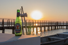 Relax at Sunset (Teo Prencipe) Tags: tennens beer lesina gargano relax chillout lounge goldenhour pontile barca lagodilesina sun sunset drink