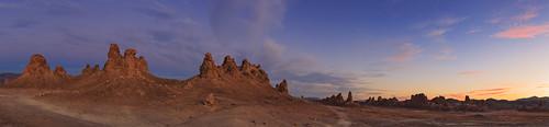 Trona Pinnacles Sunset Panorama