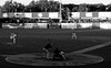 Cougars Baseball. 1 (X70) (Mega-Magpie) Tags: fuji fujifilm x70 kane county cougars minor league a baseball sport field outdoors il illinois usa america bw black white mono monochrome people players person guys men game fun pitch batter umpire geneva