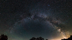Milky Way Arch, Ontario (Lee Chu) Tags: milkyway project365 rokinon12mmf20ncscs sonynex6 astrophotography panorama torrance ontario canada torrancebarrens