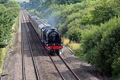 46100 Royal Scott at Paddleford Bridge, Rewe, Devon - 30 July 2017 (Dis da fi we (was Hickatee)) Tags: 46100 royal scott paddleford bridge rewe devon steam locomotive scottish kings dragoon guardsman railway lms british 6100