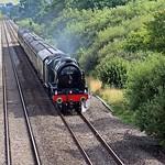 46100 Royal Scott at Paddleford Bridge, Rewe, Devon - 30 July 2017 thumbnail