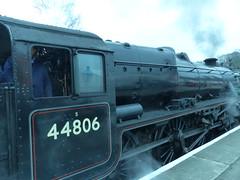 2017-03-29 - P1030254 - NYMR - Steam Locomotive - 44806 at Grosmont (GeordieMac Pics) Tags: nymr geordiemac panasonic lumix dmc fz200 royalscotweek grosmont station 44806 black5 locomotive steam engine railway yorkshire
