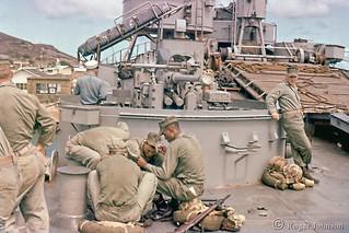 Marines Preparing To Invade Maui, Hawaii, 1955
