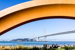 Arch & Reverse (yarnim) Tags: baybridge embarcadero sanfrancisco arch landscape bridge sony rx1 carlzeiss 35mm fullframe
