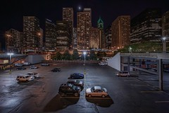 City parking (karinavera) Tags: travel sonya7r2 view cityscape building architecture city street longexposure night car parking chicago river michigan voightlander