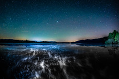 Dance of the Ghosts (*Capture the Moment*) Tags: 2017 f28 fisheye kirchsee lakekirchsee milchstrasse milkyway reflection reflections reflexion sonya7m2 sonya7mii sonya7ii sonyilce7m2 walimexpro nacht night nebel mist himmel sky stars sterne