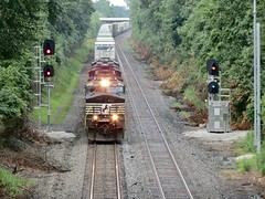 Norfolk Southern Chicago Line / MP 460 East (codeeightythree) Tags: ns norfolksouthernrailroad norfolksouthernchicagoline norfolksouthern rollingprairieindiana rollingprairie indiana railroad railroading railroader transportation freight cargo signals milepost460 fastfreight