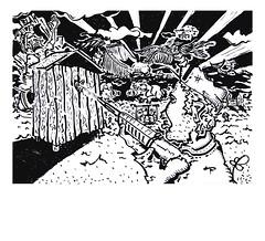 apocalypse (Dieta_1) Tags: comic illustration toilet easy simple humor people shot weapon apocalypse now soldier gunman gun isllustration art inspiration love hearth drawing black white dieta berlin fun serious potsdam happy hour beer unscheinbar