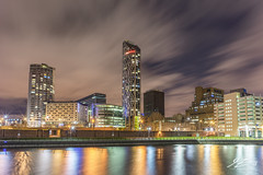 Follow Where You Lead (Tim van Zundert) Tags: westtower urban waterfront pierhead liverpool merseyside northwestengland building architecture city night evening longexposure cloud sony a7r voigtlander 21mm ultron cityscape skyline