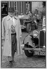 Severn Valley Railway 1940s weekend. (Adrian Walker.) Tags: elements bw monochrome 1940s kidderminster svr canon80d tamron18270 people car jeep