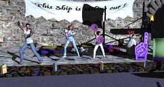 RFL 2017 - Relaying Gangnam style! (Osiris LeShelle) Tags: secondlife second life avilion rfl relay rflinsl relayforlife questforacure quest cure track campsite gangnam style dancing dance pj pyjamas