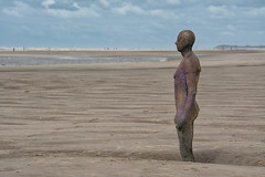 Another Place (Malc H) Tags: crosby crosbybeach anotherplace anthonygormley liverpool albertdocks beach sculptures coast ships waves sand sanddunes