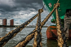 (Kijkdan) Tags: boat ropes cityscape rotterdam fujifilm xpro2 16mm haven harbour