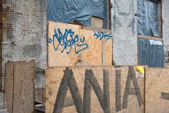 na remont - kyiv (chirgy) Tags: fujifilmx100s kiev kyiv plywood blue brown hoarding graffiti rectangles concrete