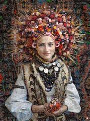 Ukrainian folk Mosaico (by zurera) Tags: digital hd art collage retratos portraid zurera people fotomontaje image autoretratos mosaic
